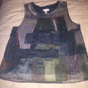 Plus Size sleeveless blouse